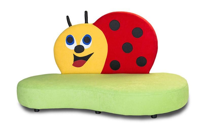 kindersofa mit motiv marienk fer kinic kindersofas. Black Bedroom Furniture Sets. Home Design Ideas