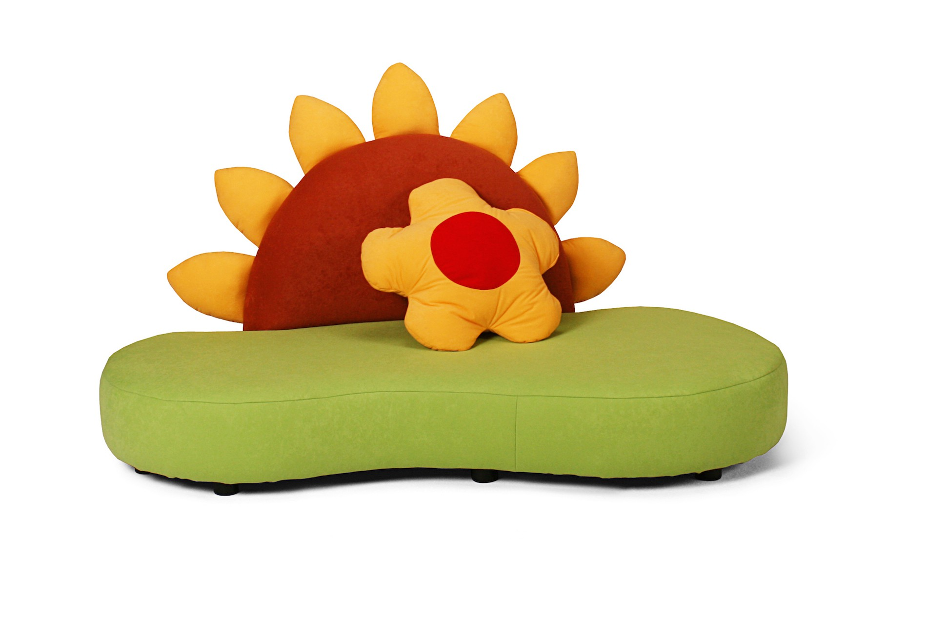 kindersofa mit sonnenblume kinic kindersofas. Black Bedroom Furniture Sets. Home Design Ideas