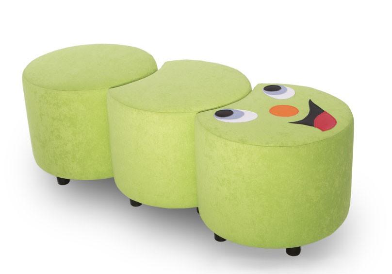 hocker sitzgruppe raupe 3 teilig kindersofas. Black Bedroom Furniture Sets. Home Design Ideas